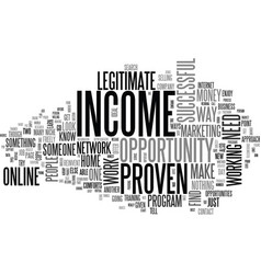 Why it is important to have a proven income vector