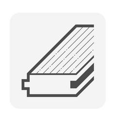 Wood floor material icon design vector