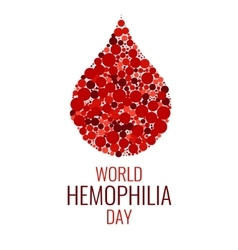 World Hemophilia Day design template vector