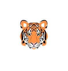 a tiger head vector image