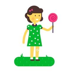 Girl Lollipop vector image
