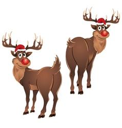 Rudolph the reindeer standing vector