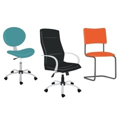 Set of office chairs vector image vector image