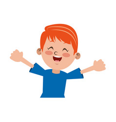 Boy happy student young kid vector