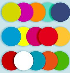 Colorful circles layered-2 vector image vector image