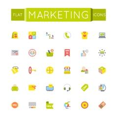 Flat Marketing Icons vector image