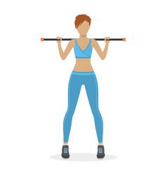 girl with a body bar vector image