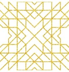 Golden seamless arabic pattern vector image vector image