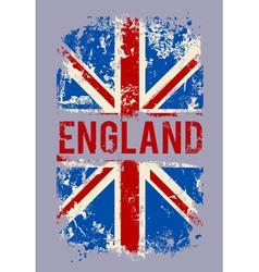 Grunge banner UK national flag vector image