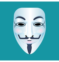 Guy fawkes mask stylised depiction isolated on vector