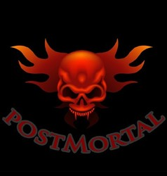 Skull With Flames vector image vector image