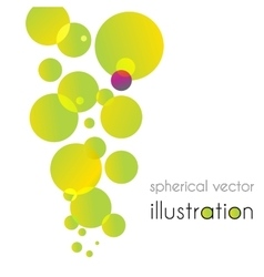 Yellow-green circles increases to the top vector image vector image