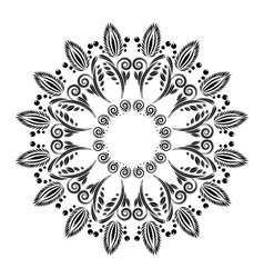abstract pattern with floral ornaments vector image