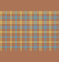 brown beige blue check fabric texture background vector image