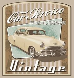 old car vintage vector image vector image