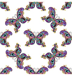 Seamless white pattern vector image vector image