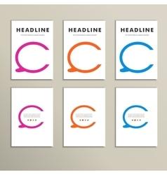 Set of four colorful speech bubbles vector image