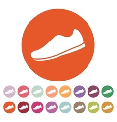 The sneaker icon Shoes symbol Flat vector image