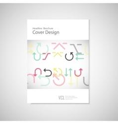 arrows set on a white brochure vector image