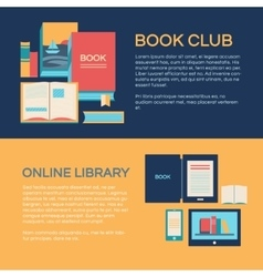 Banner template with books vector image vector image