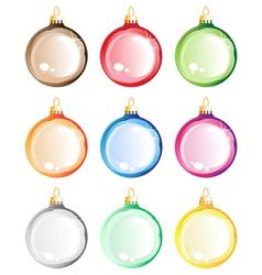 Christmas tree balls set vector image vector image