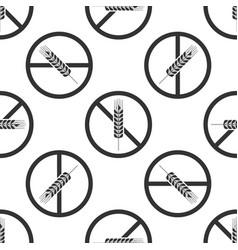 gluten free grain seamless pattern no wheat sign vector image