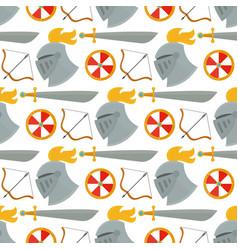 knight helmet medieval weapons heraldic knighthood vector image