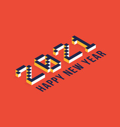 2021 new year isometric art minimal 2021 holiday vector image