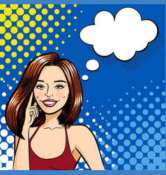 a beautiful smiling woman vector image