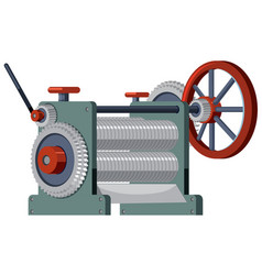 a flat engineer engine vector image