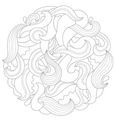 abstract wave mandala vector image