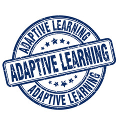 adaptive learning blue grunge stamp vector image