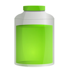 aloe vera oil jar icon cartoon style vector image