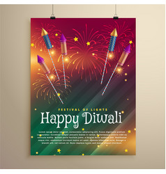 Amazing diwali festival flyer template with vector