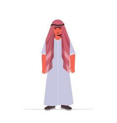 Arabic child little guy in casual trendy vector