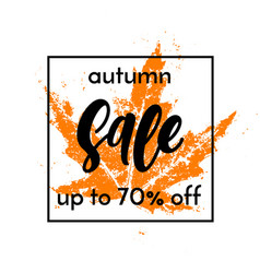 autumn sale shopping discount poster fall maple vector image