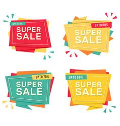 Banner super sale sign image vector