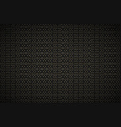 black abstract background with golden triangles vector image