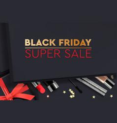black friday super sale gift box vector image