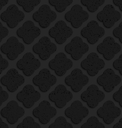 Black textured plastic rounded squares vector image