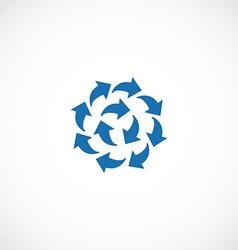 Blue arrows flat icon logo vector image