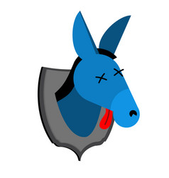 blue donkey hunter trophy democrat in office of vector image