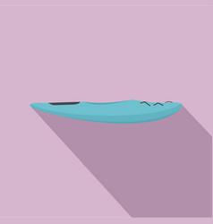 blue kayak icon flat style vector image