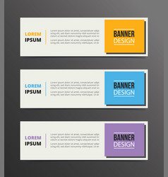 boxed or box style banner template design with vector image