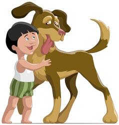 boyanddog vector image