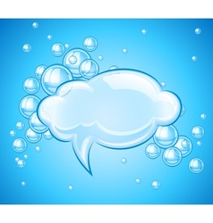 Bubbles cloud in water vector