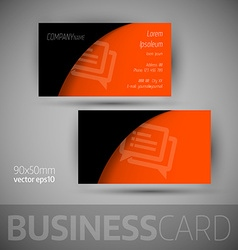 Business Card Template With Sample Texts vector