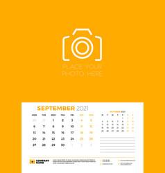 calendar for september 2021 week starts on monday vector image
