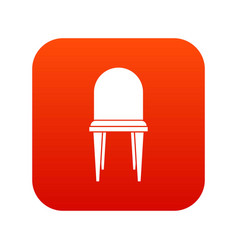 chair icon digital red vector image