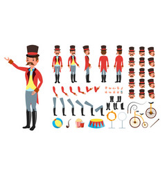 Circus trainer animated character creation vector